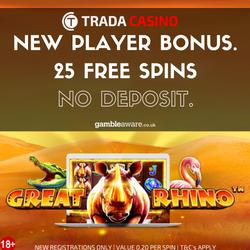 trada casino no deposit