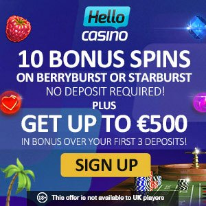 Hello Casino No Deposit Bonus Casino