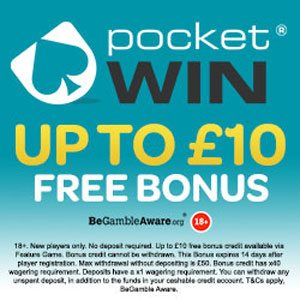 pocket win No Deposit Bonus