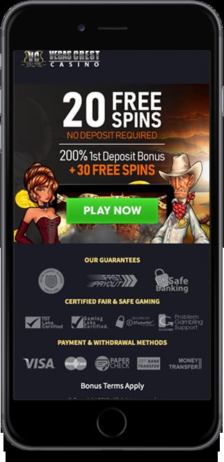 vegas crest casino no deposit bonus