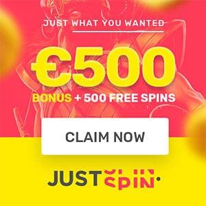 justspin casino free spins no depisit bonus
