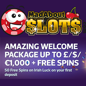 mad about slots bonus