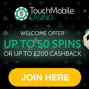 touch mobile casino free spins bonus