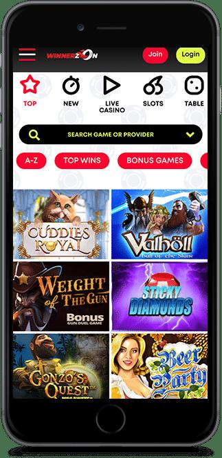 winnerzon no deposit casino bonus