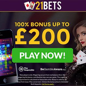 21bets casino bonus