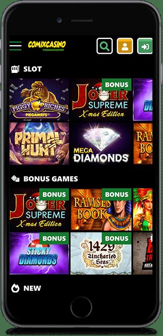 comix casino no deposit bonus
