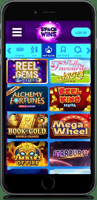 space wins casino bonus