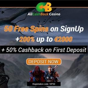 all cashback casino no deposit bonus