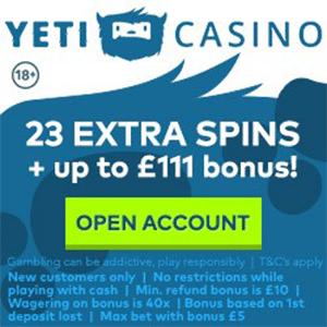 yeti casino no deposit bonus