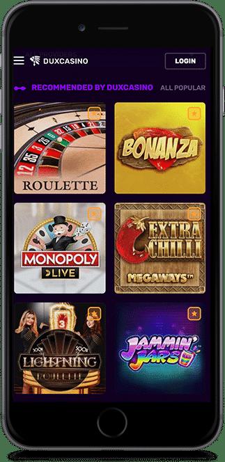 dux casino mobil