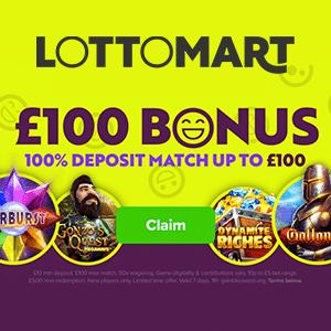 lottomart casino bonus