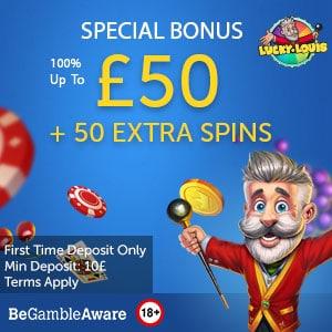 lucky louis casino bonus