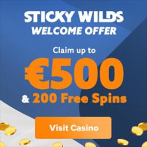 sticky wilds casino bonus