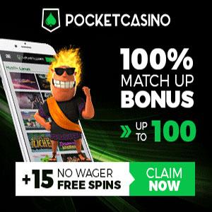 pocket casino bonus