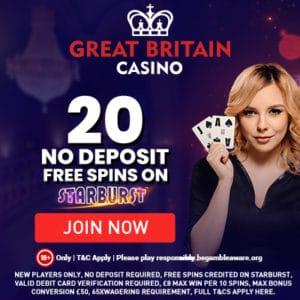 great brtain casino no deposit bonus